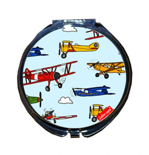 Selina-Jayne Vintage Airplanes Limited Edition Designer Compact Mirror
